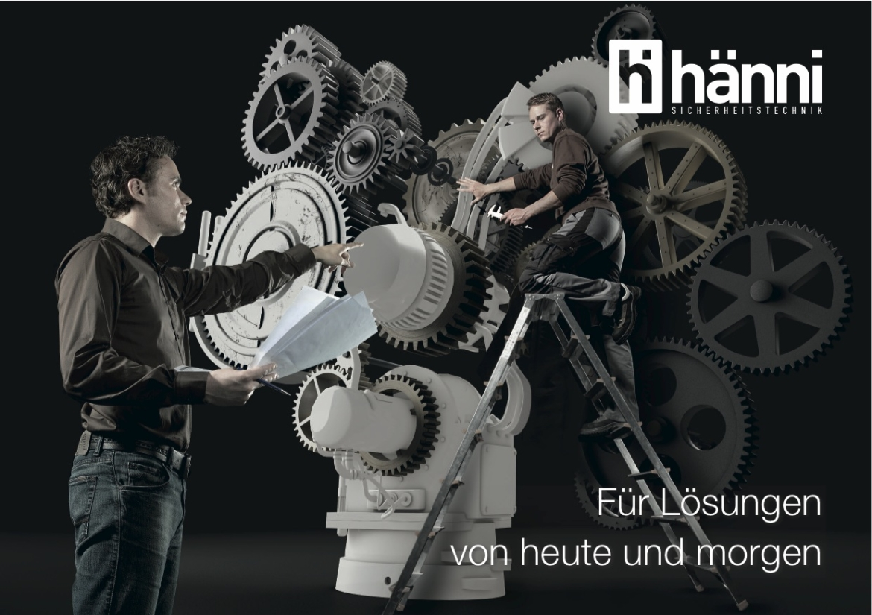 Keyvisual Hänni-Sicherheitstechnik Titelbild Folder