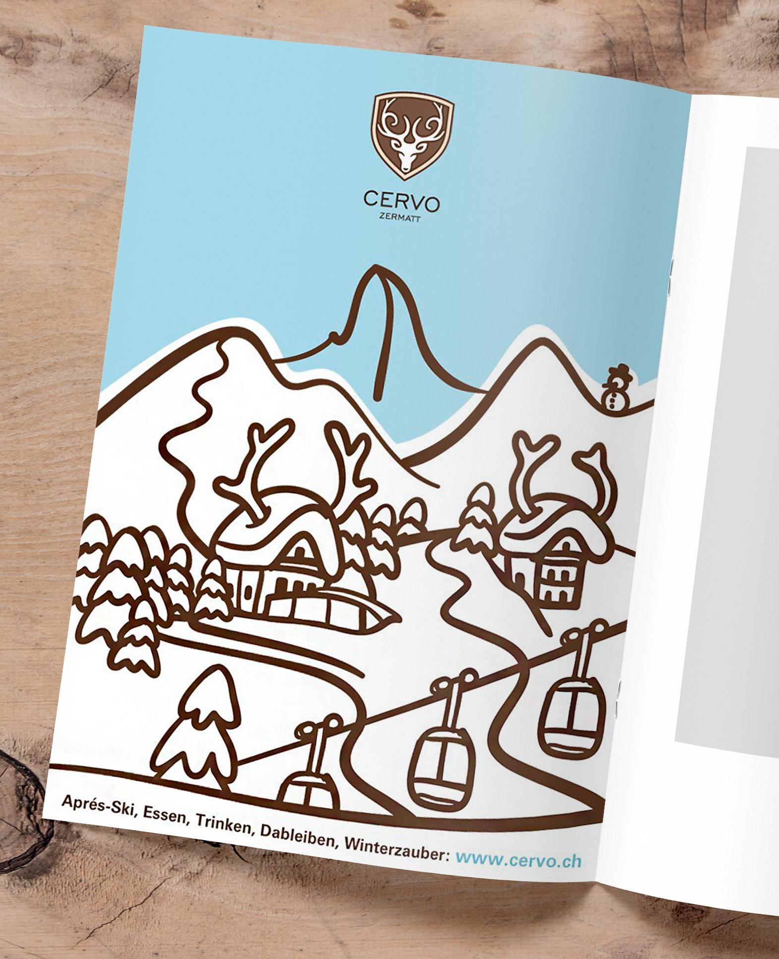 Cervo Hotel Zermatt Inserat by Werbeagentur Bern - Blitz & Donner