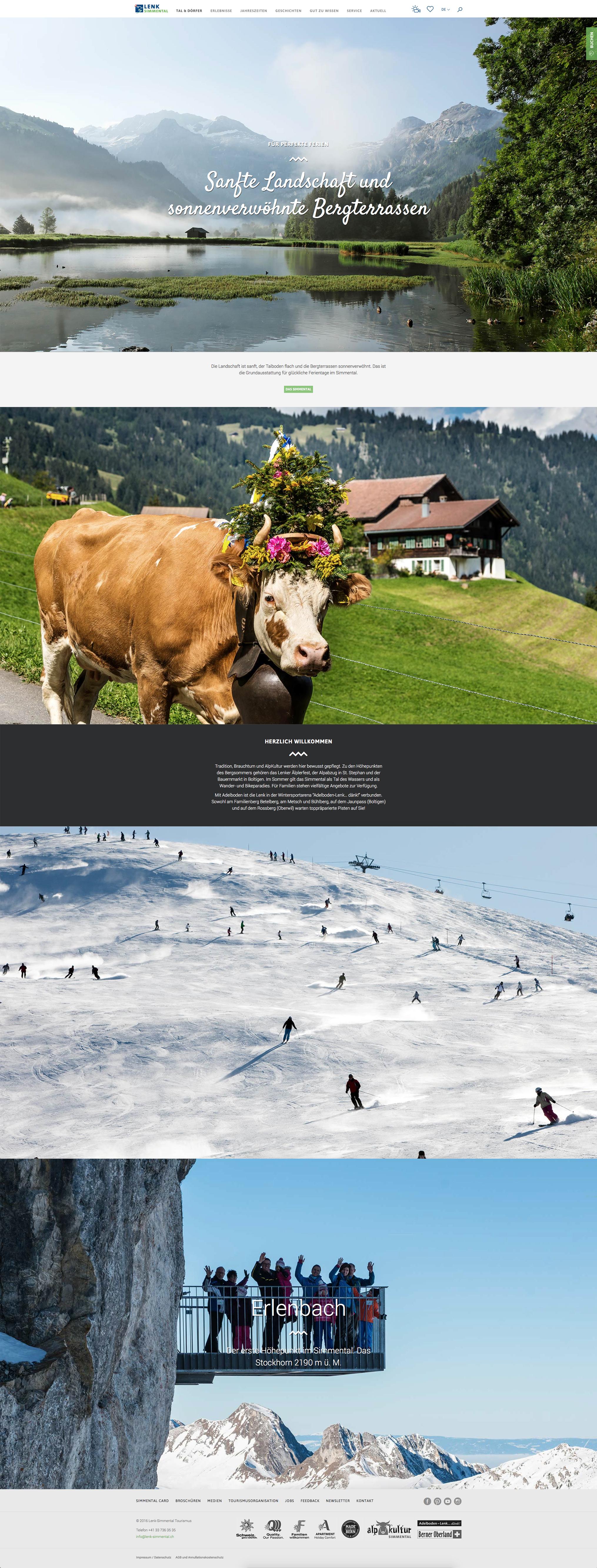 Lenk Simmental Tourismus Tal und Dörfer