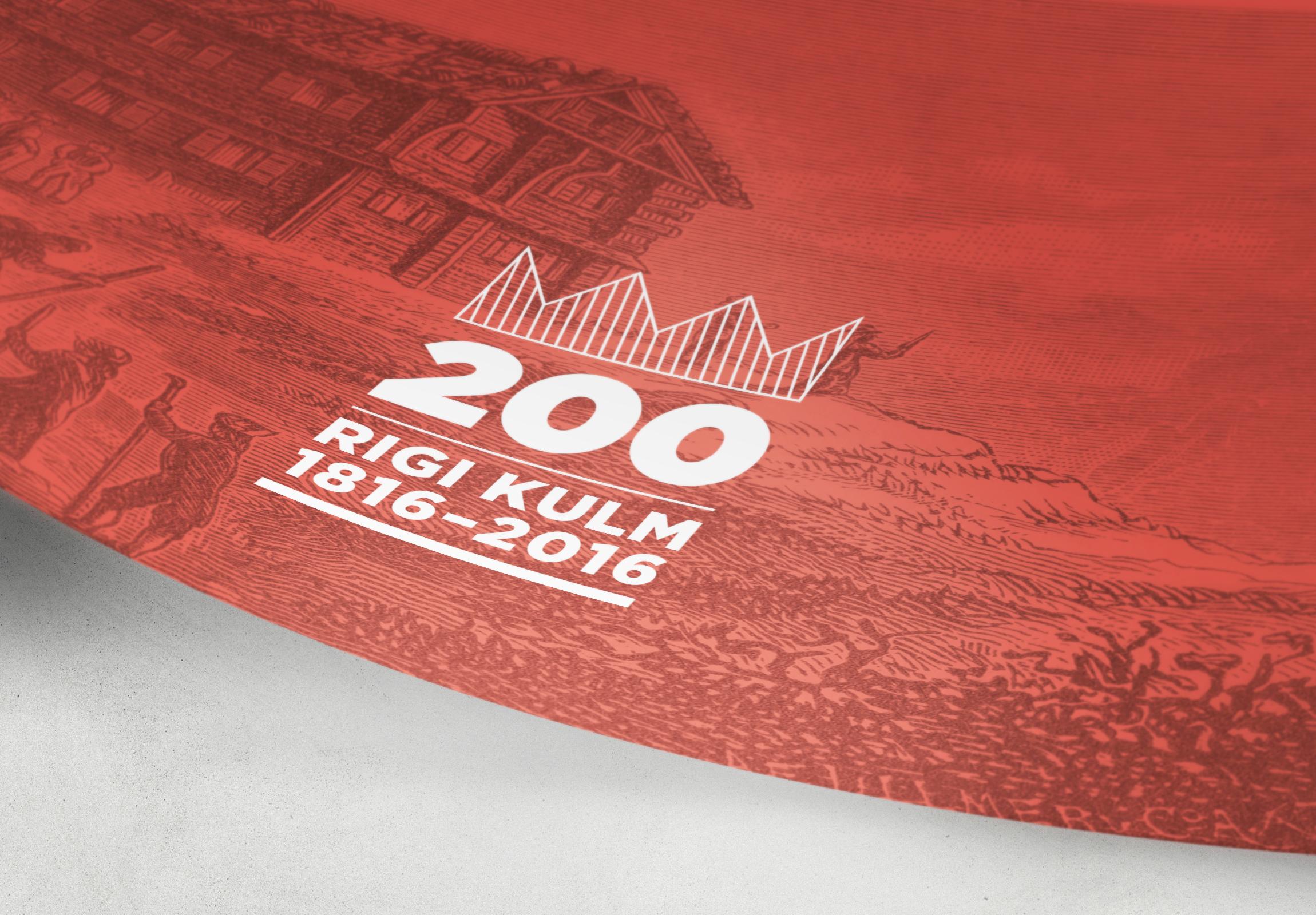 Rigi Kulm Hotel Jubiläum Grafik by Werbeagentur Bern - Blitz & Donner