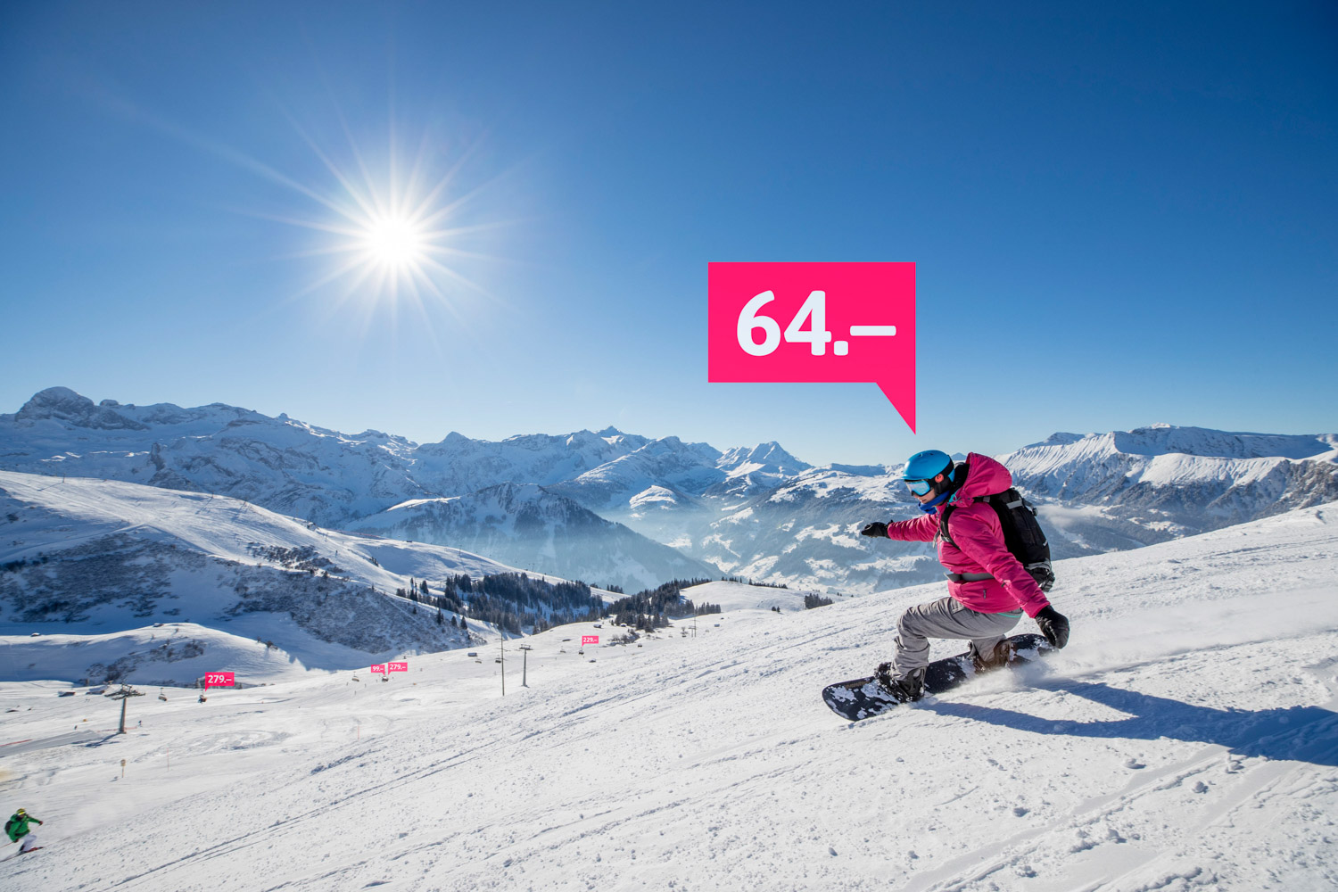 Snowboard-Solo Visual lenk-simmental.ch Winterspecial 17/18 Social-Media