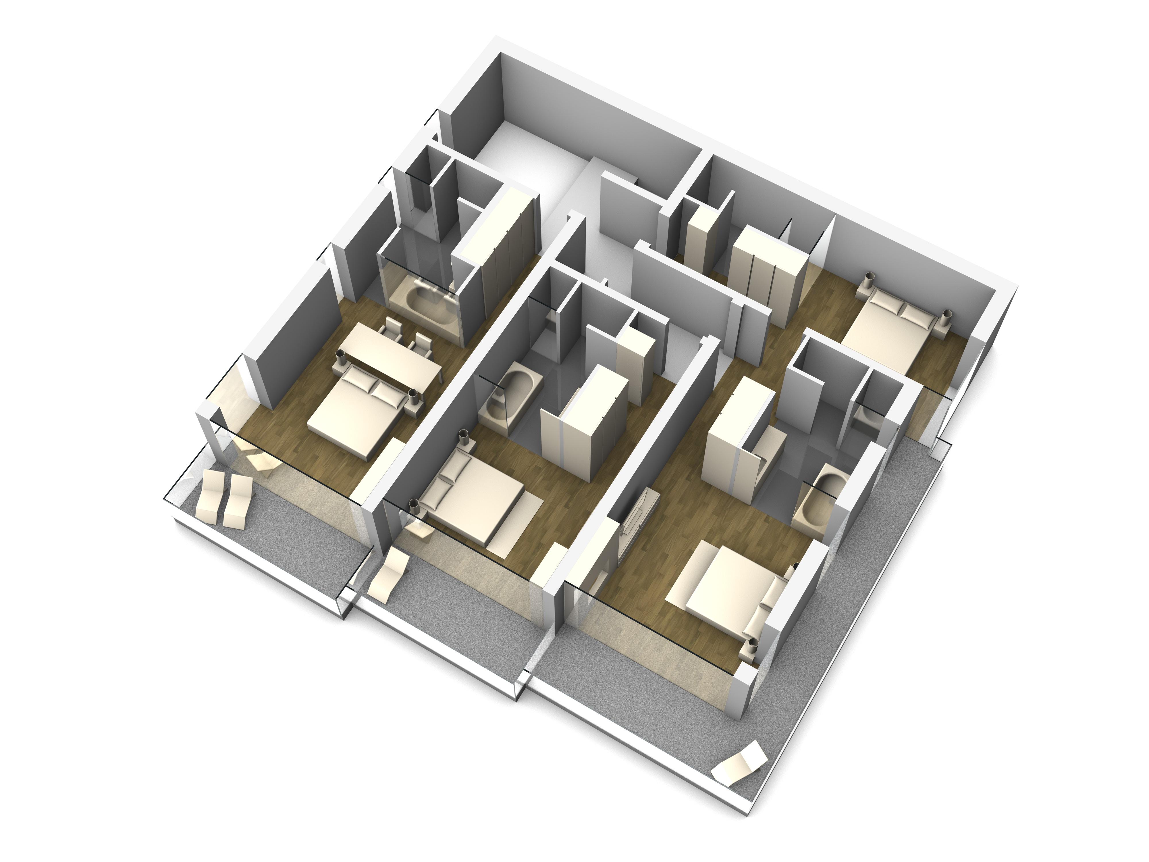 3D-Visualisierung Hotel