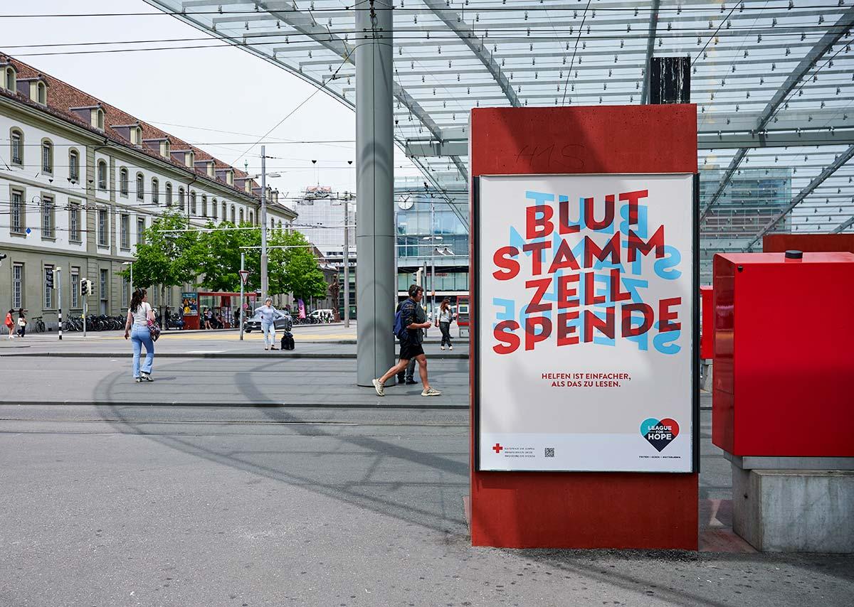 Blutspende SRK Schweiz AG: Plakatkampagne Blutstammzellspende